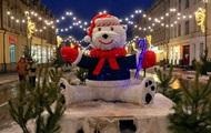 Предновогодний Киев показали на фото