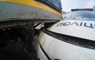 В Киеве случилось ДТП с участием полицейского авто