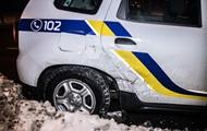 В Киеве такси врезалось в авто полиции