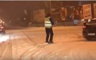 В Ужгороде засняли лыжника-
