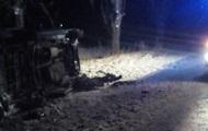 Во Львовской области перевернулся микроавтобус: погиб водитель