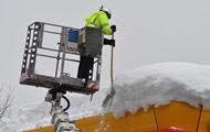 Курорты Австрии заблокированы из-за снегопада
