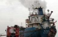 В Турции загорелся корабль: восемь пострадавших