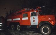 В Киеве ночью сгорело авто с прицепом