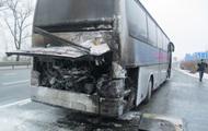В Житомирской области на ходу загорелся автобус с пассажирами