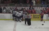 В Канаде произошла массовая драка хоккеистов