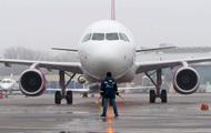 В аэропорту Киев не смог сесть самолет