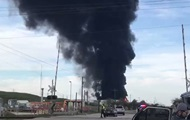 В Техасе загорелось нефтехранилище