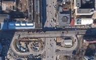 Демонтаж Шулявского моста сняли с воздуха