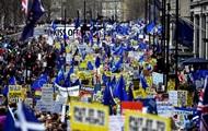 Марш против Brexit: организаторы заявляют о миллионе участников