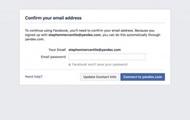Facebook потребовал пароли электронной почты