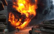В Херсонской области произошел крупный пожар на складе