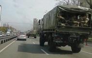 У Києві помітили колону військової техніки