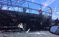 Под Херсоном дотла сгорел автобус