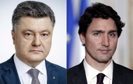 Порошенко и Трюдо обсудили ситуацию на Донбассе