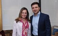 Зеленский встретился с главой МИД Канады