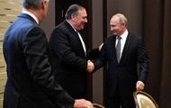 В России началась встреча Путина и Помпео