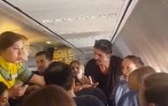 Женщина устроила пьяный дебош в самолете на Киев