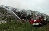В Полтаве крупный пожар на городской свалке