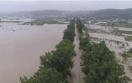 Паводок на Закарпатье показали с дрона