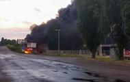 Под Киевом горит заправка