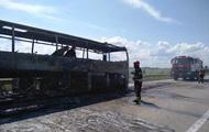В Житомирской области сгорел пассажирский автобус