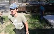 В Киеве произошла потасовка между активистами и представителями застройщика