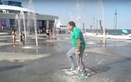 Саакашвили в Одессе пробежал через фонтан