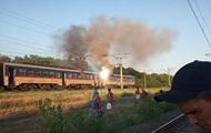 Под Днепром на ходу загорелась электричка