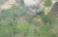 Военный показал уничтожение укреплений сепаратистов