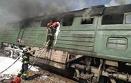 У Луганській області загорівся локомотив вантажного поїзда