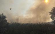 В Черкасской области горит свалка