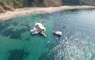 В Турции экскурсионный катер сел на мель