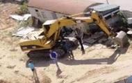 В Киеве взорвали экскаватор