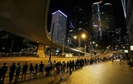 Жители Гонконга устроили живую цепь на 45 км