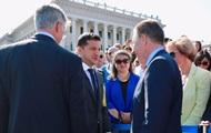 На празднование в Киеве пришли Волкер и Тейлор