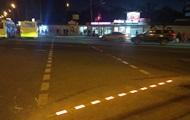 В Киеве появился первый пешеходный переход с LED-брусчаткой