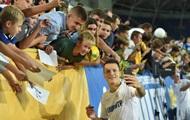 Открытую тренировку сборной Украины посетили более 7 тысяч болельщиков