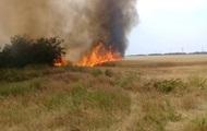 В Киевской области выгорело 30 гектаров поля с соей