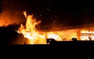 В Киеве ночью горел речной вокзал