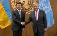 Зеленський зустрівся з генсеком ООН