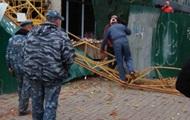 В центре Киева рухнул строительный кран