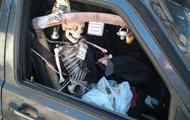 В Киеве заметили авто со скелетом вместо пассажира