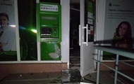 В Киеве взорвали банкомат Приватбанка
