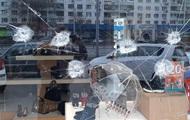 В Киеве обстреляли витрину обувного магазина
