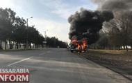 На Одещині поліцейське авто загорілося на ходу
