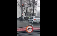 У здания Рады случилось тройное ДТП