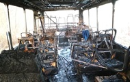 В Житомирской области на ходу загорелся рейсовый автобус