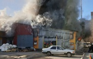 Под Киевом на автостоянке сгорело 10 маршруток