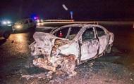 ДТП под Киевом: один автомобиль сгорел